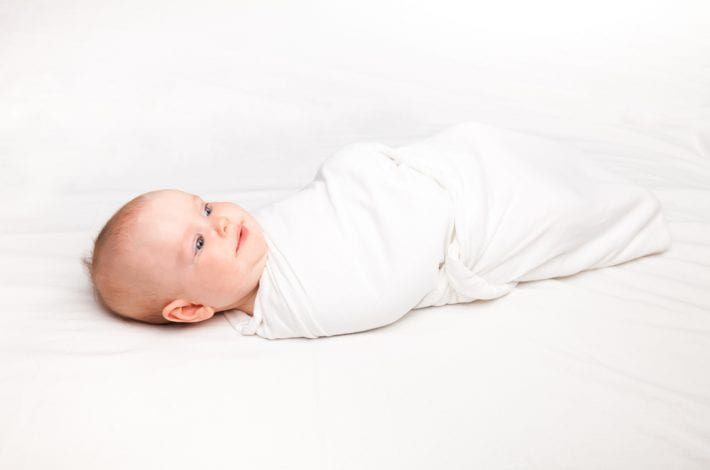 baby swaddled ready for baby sleep