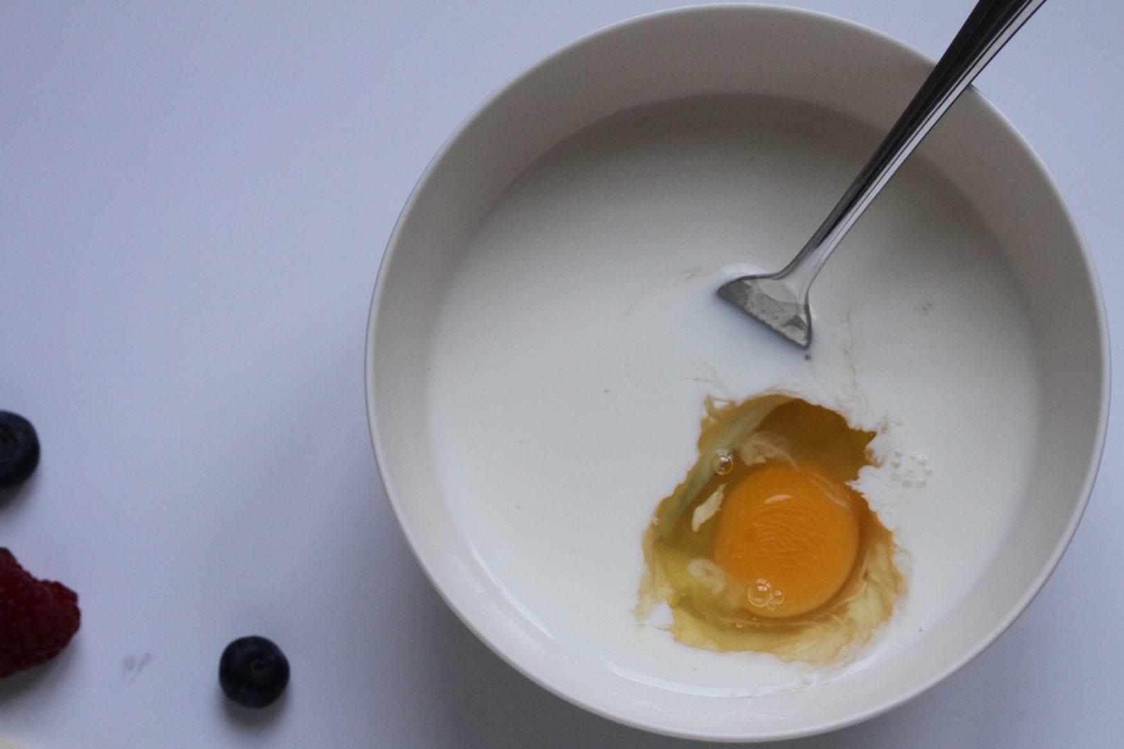 Gluten free pancakes - best sunday pancakes - mix wet ingredients togethe