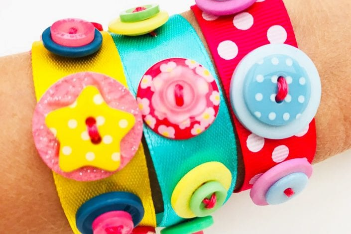 Fun kids craft - button bracelets finished medium res