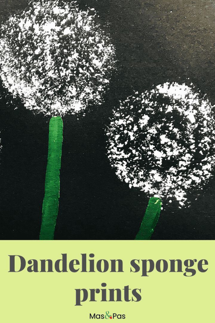 Dandelion sponge prints - a fun and easy craft for kids and toddlers
