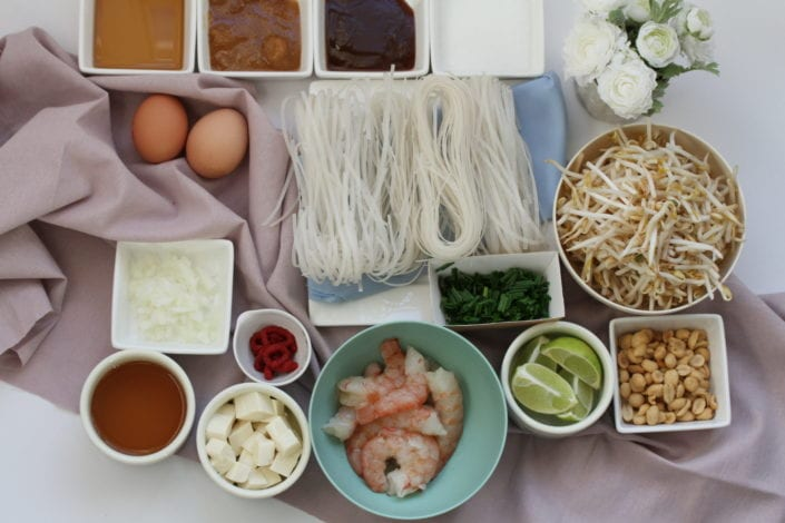 Easy Pad Thai - family dinner recipes - ingredients