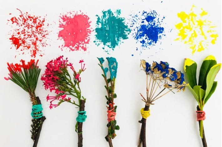 Fun toddler crafts mother natures paintbrushes paints