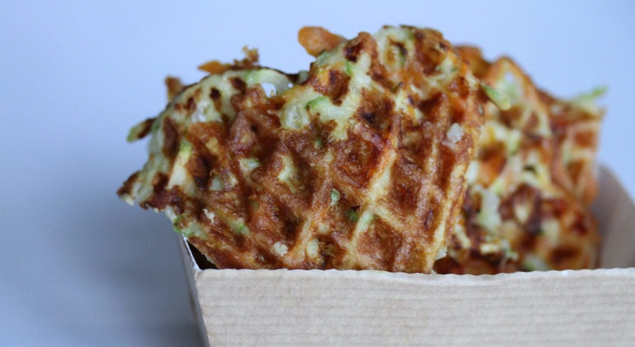 Vegetable waffles - carrot and courgette - feature image 2