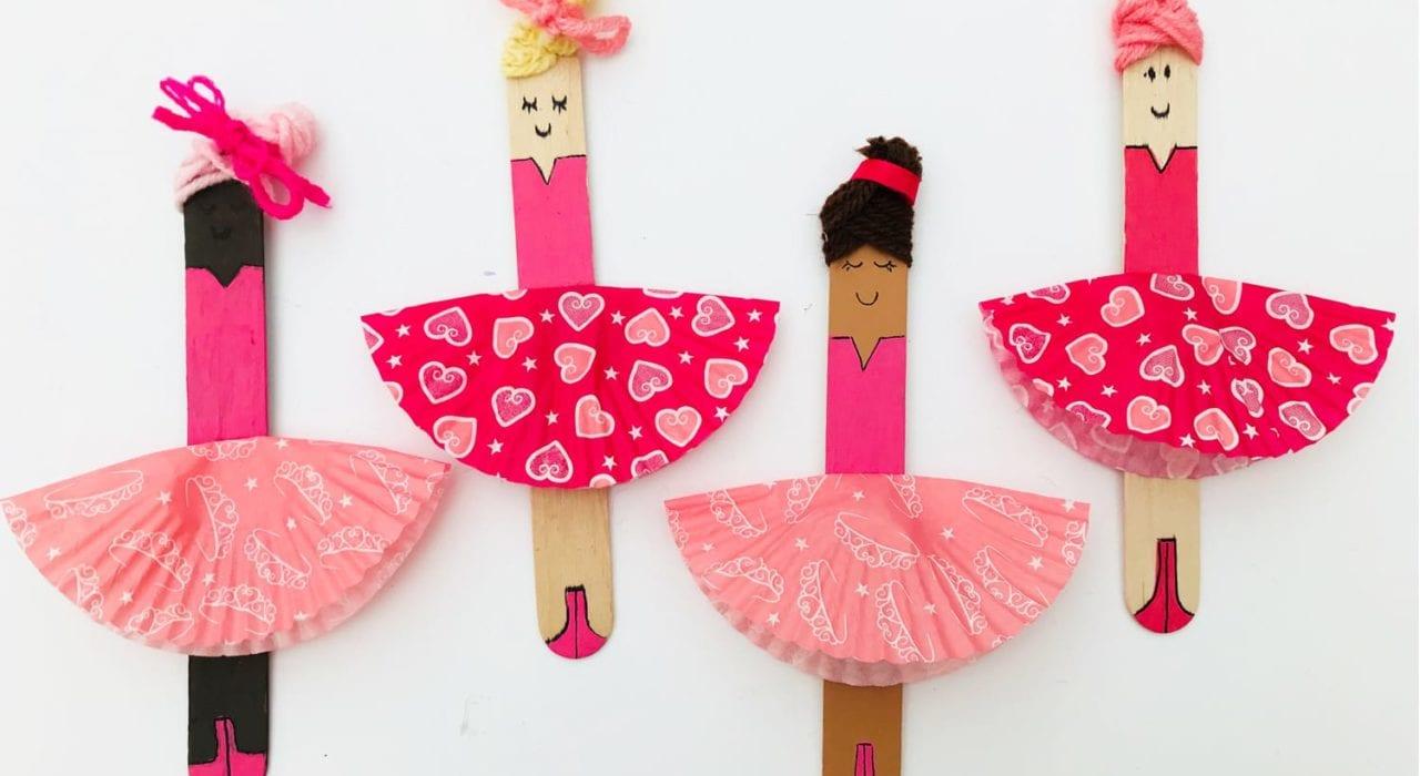 fun kids craft bun case ballerinas