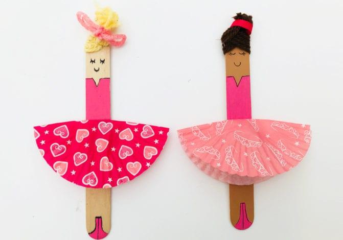 fun kids craft bun case ballerinas pair