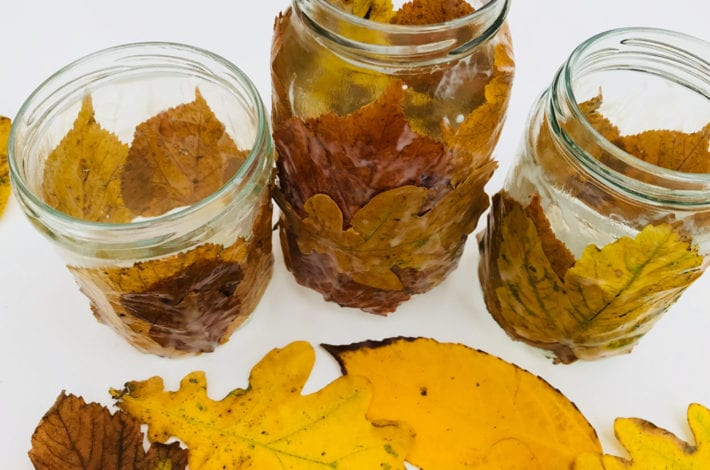 fun kids crafts - awesome autumn leaf lanterns - step 3 make a few