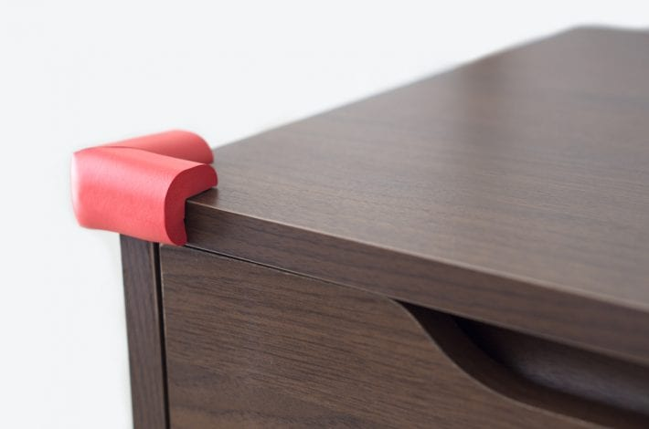 sharp corners - furniture babyproofing