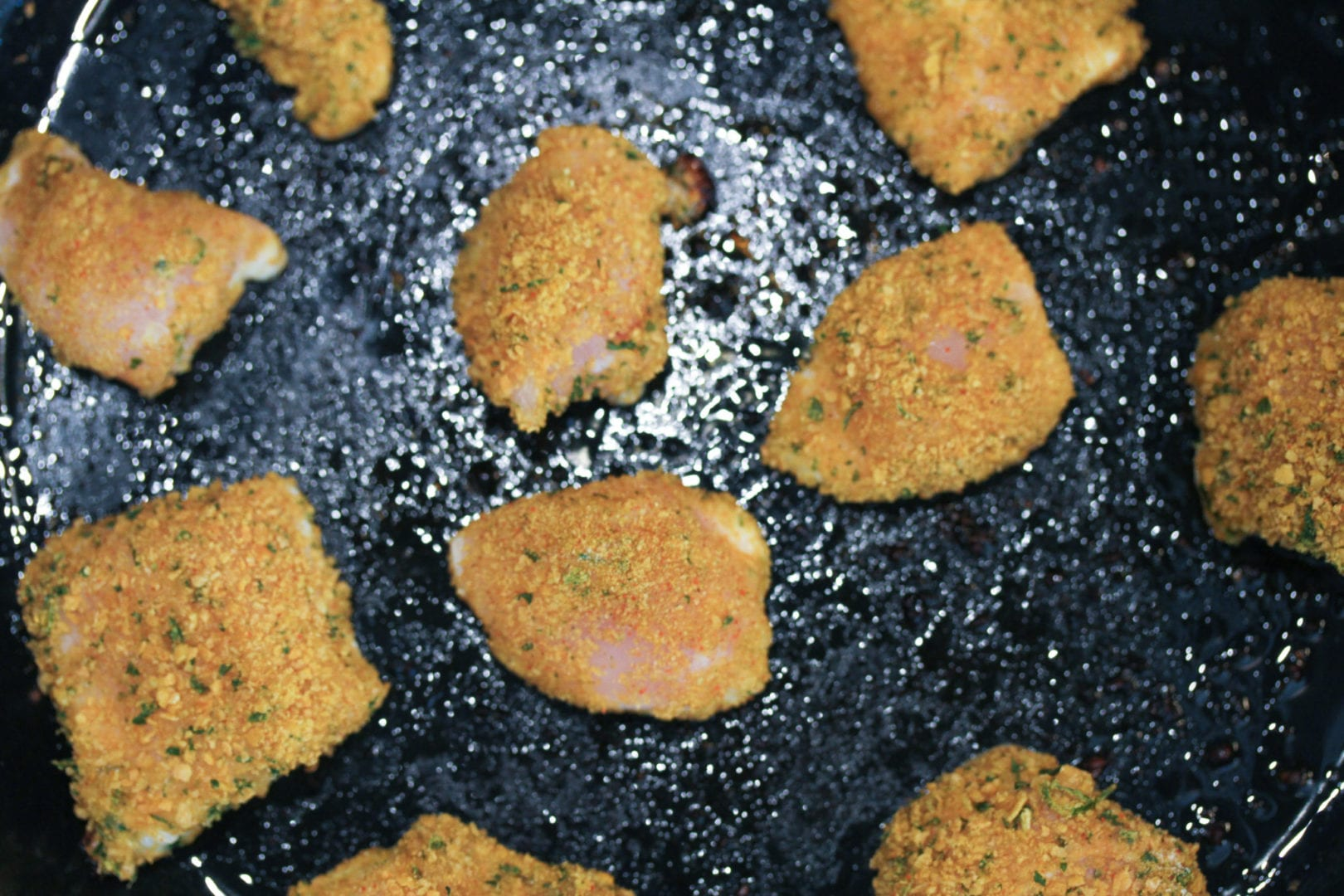 Gluten free chicken nuggets - healthy kids recipes - frying 4