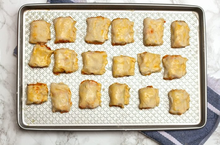 Vegetarian sausage rolls - squash and goats cheese rolls