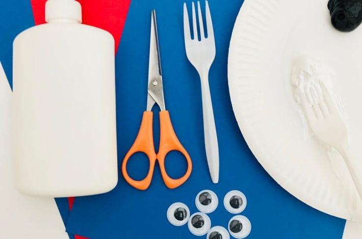 fork prints - panda craft - fork panda - toddler craft
