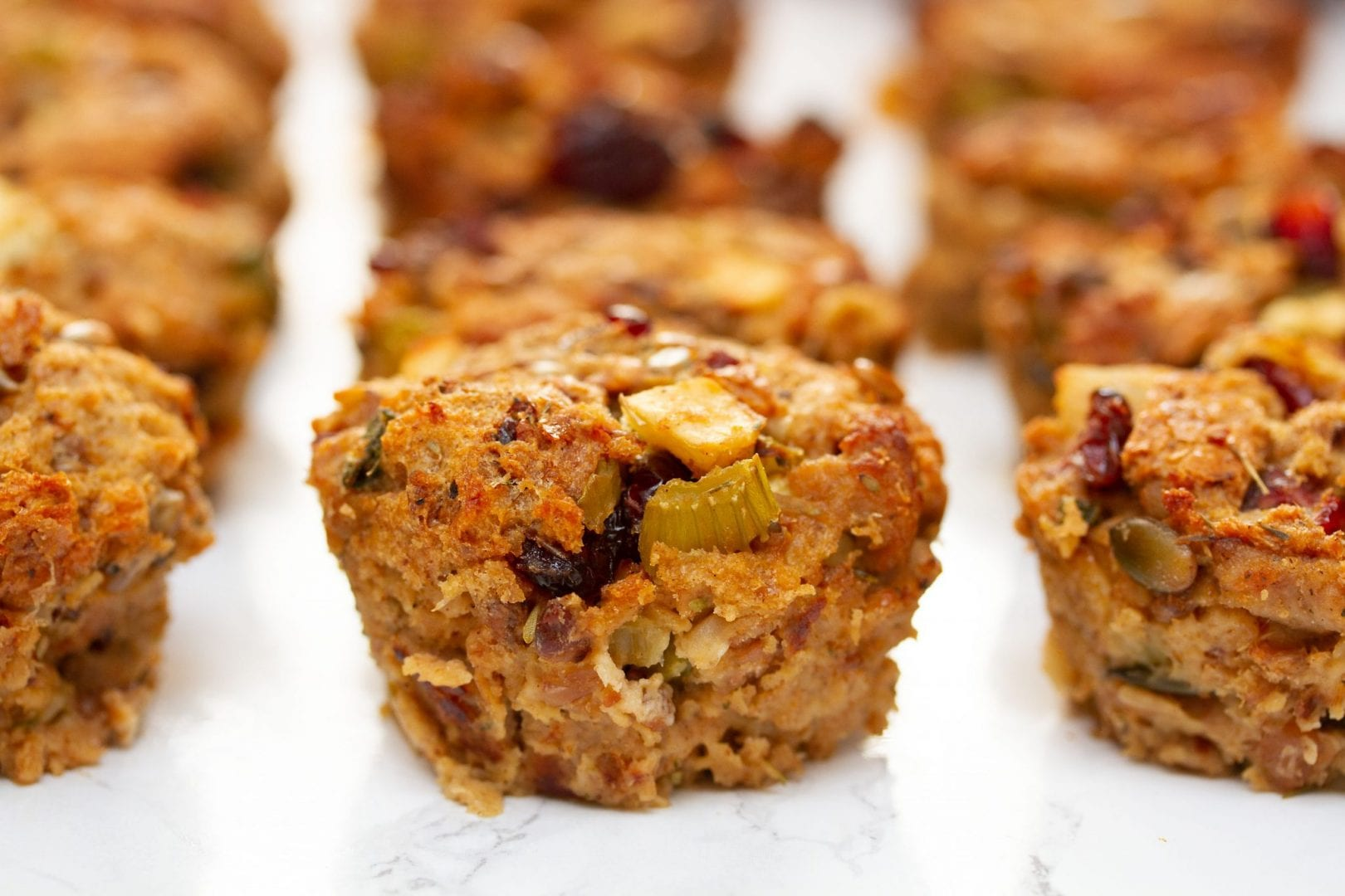 Stuffing recipes - Sausage and Apple Stuffing Muffins - Thanksgiving recipes - Christmas recipes