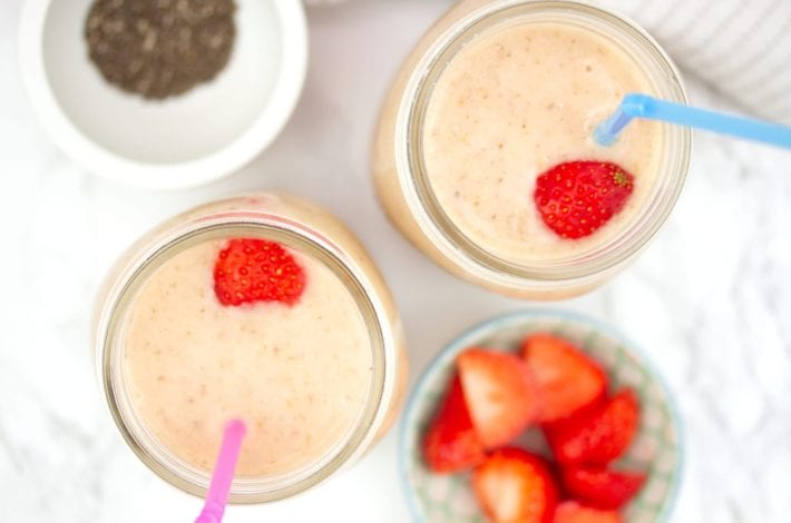 banana smoothies - kids smoothies - baby first foods - mango coconut and banana smoothies