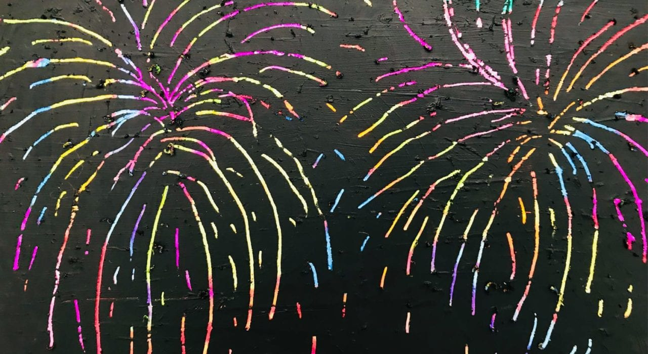 fireworks craft - scratch art fireworks