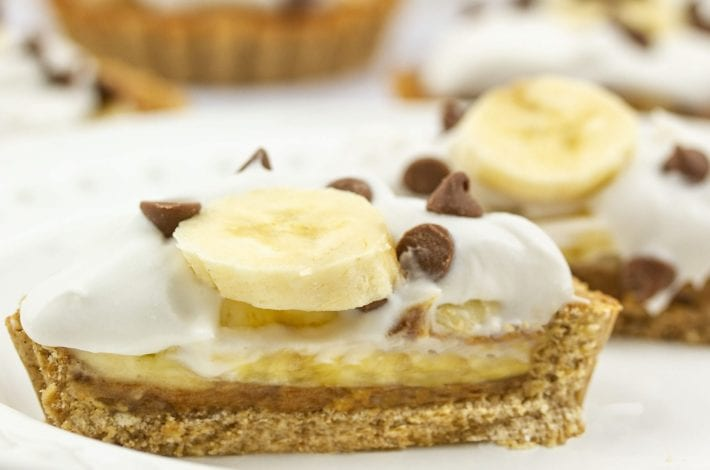 vegan banoffee pie - try this healthy banoffee pie as a delicious and healthy kids dessert.