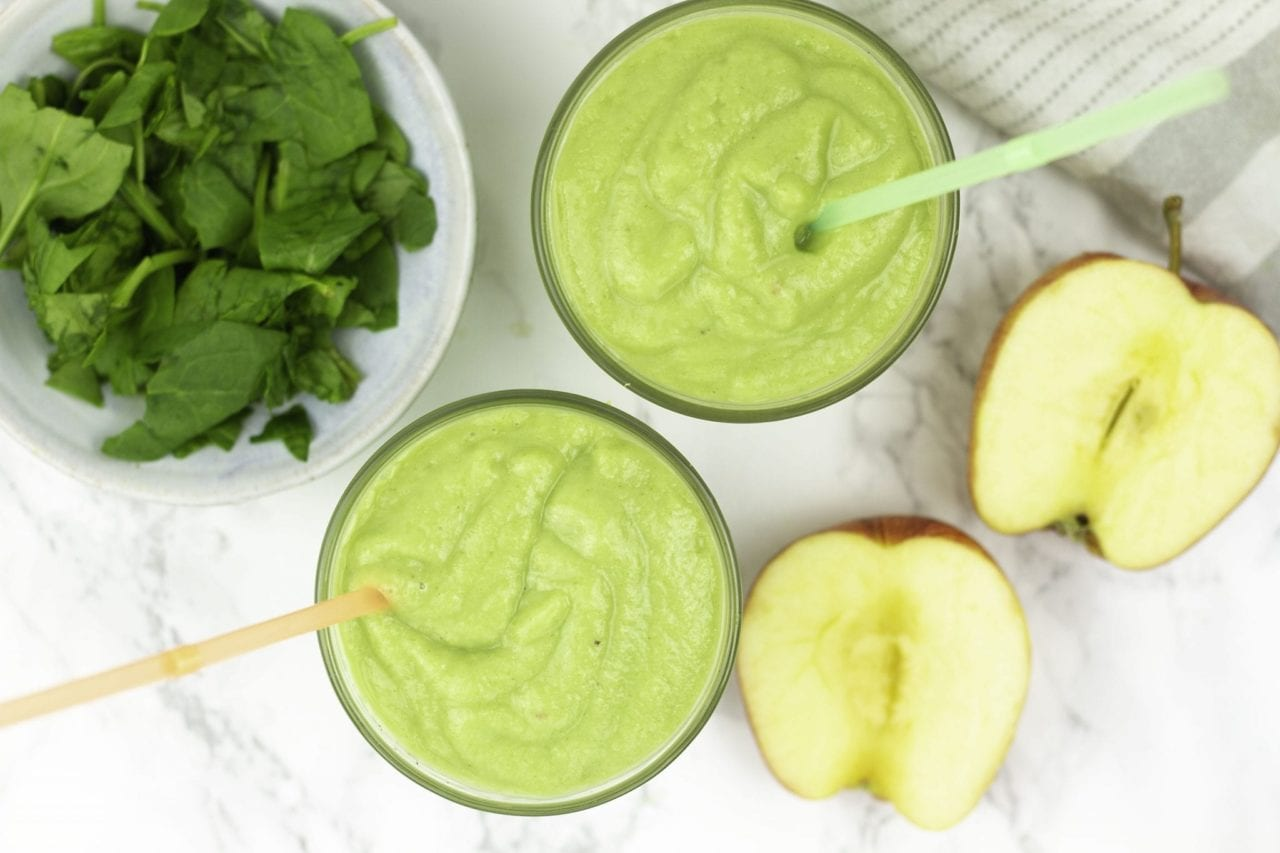 kids smoothies - avocado and apple smoothie - healthy smoothies