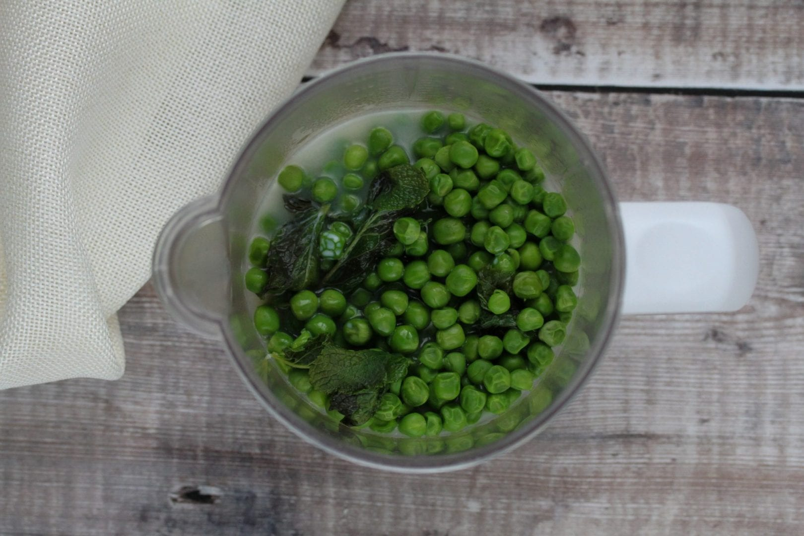 pea soup - pea and mint soup - family recipes - weaning recipes