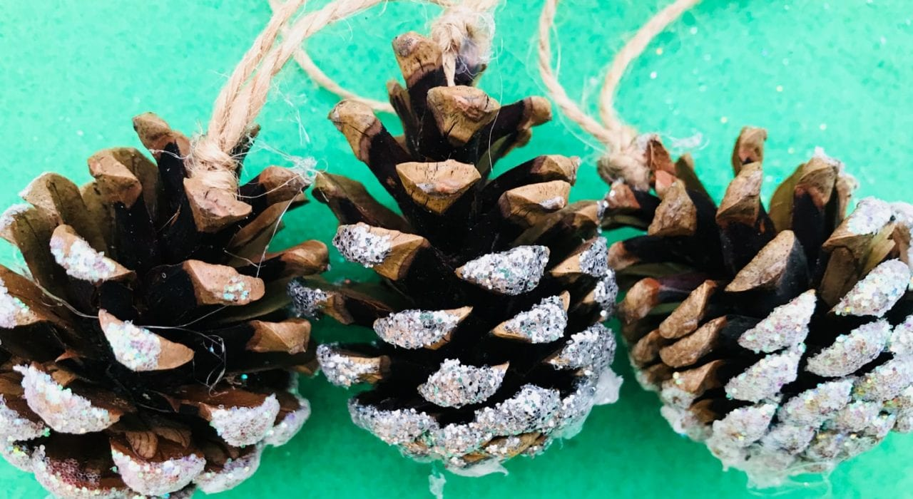 pine cone decorations - christmas decorations