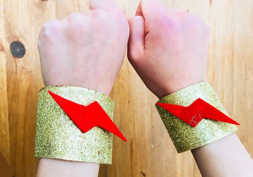superhero cuffs - boys crafts