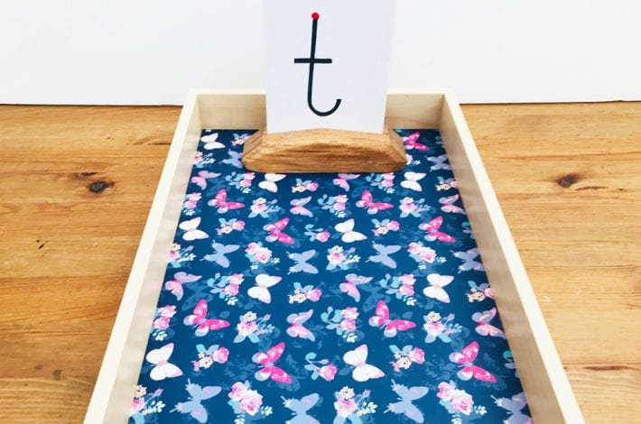 write letters - first letters - montessori letter tray - learn letters