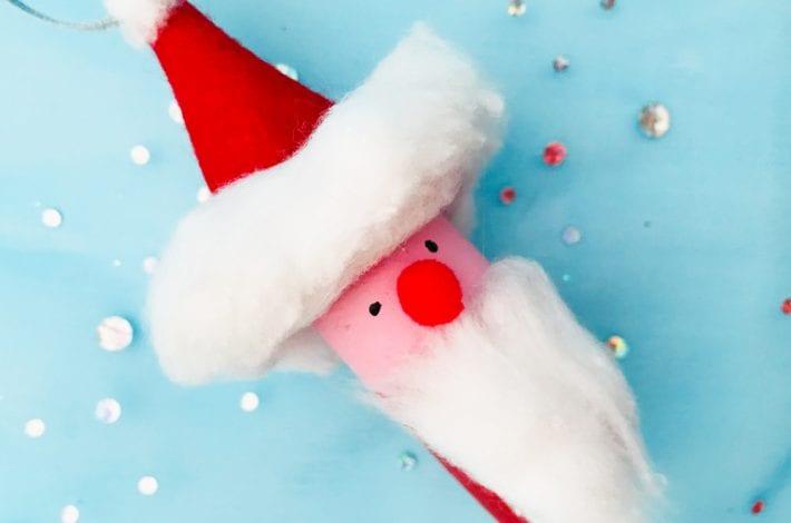 Santa craft - make these pretty santas into a santa bowling game