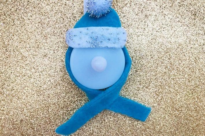 snowman craft - light up snowmen - christmas craft for kids