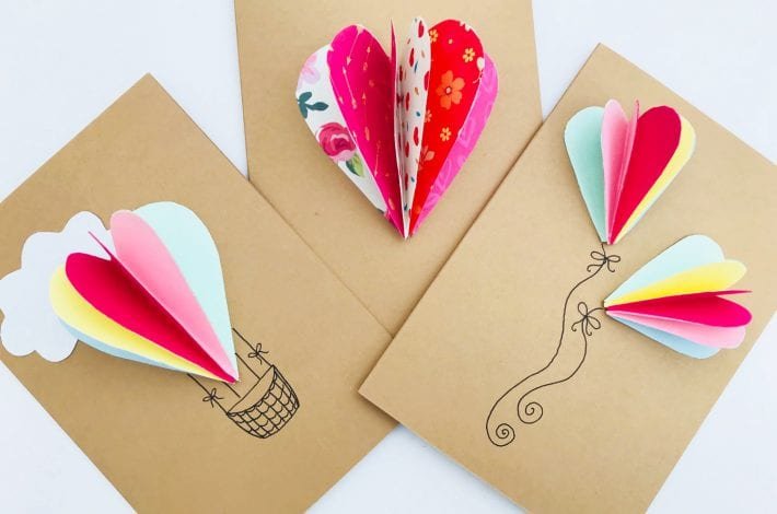 Heart cards - enjoy making these pop up 3D heart cards this valentines day
