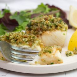 Herb crusted fish fillet - make these easy crispy Parmesan herb crusted haddock fillets for a healthy and tasty family dinner