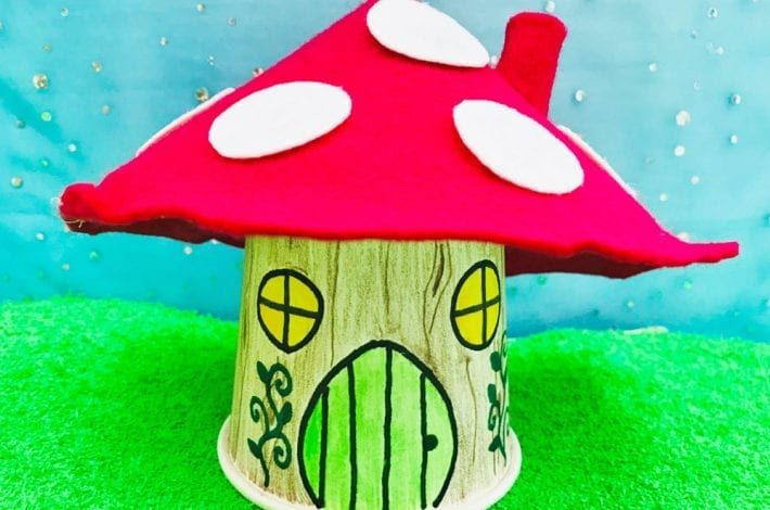 Magical paper cup fairy house - a fun and simple DIY fairy house craft - why not craft a fairy village