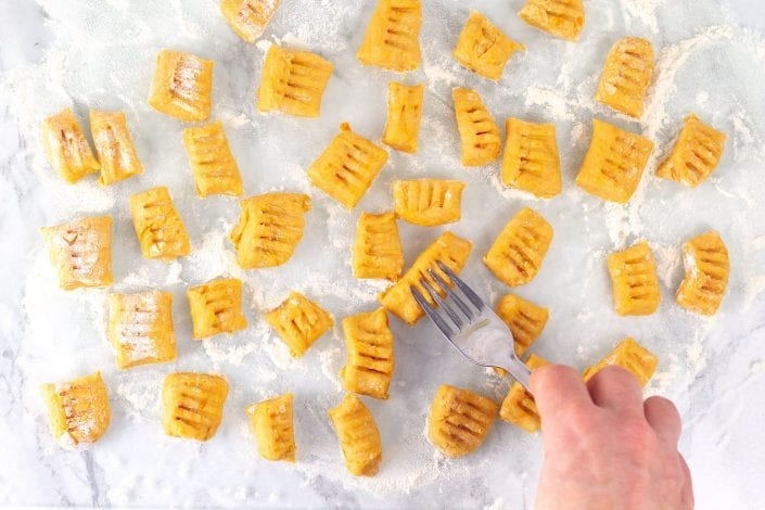 Sweet potato gnocchi - try this tasty and healthy vegetarian dish for a healthy kids dinner