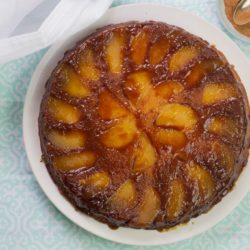 The best caramel apple upside down cake - bake it with the kids and flip it over to enjoy for tea time