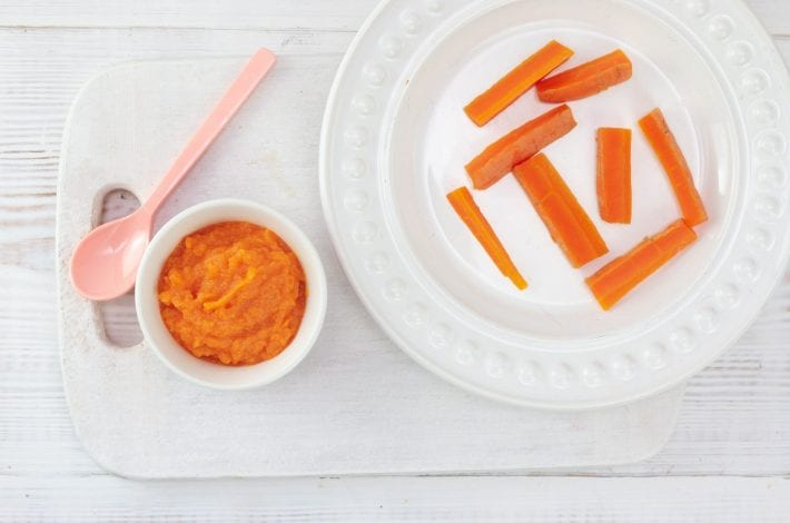 Carrot puree - try this great weaning dish for baby as a healthy and nutritious first food