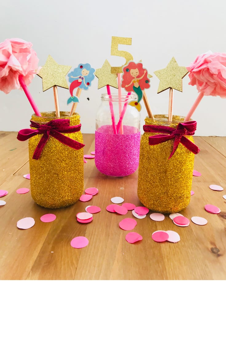 Girls party centrepieces - try these quick and easy kiddie party decorations for your little girls next birthday party