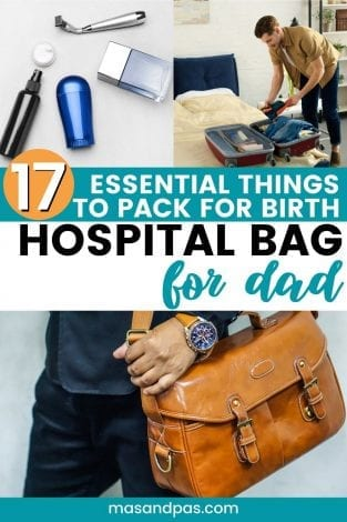 Hospital bag for dad, things expecting dads should pack, what dads to be need for labor