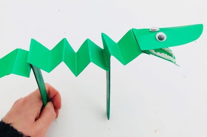 Cool crocs - crocodile craft - croc popsicle stick craft for kids - easy kids crafts