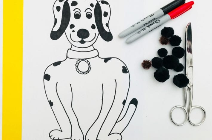 Learn to count - spotty dog counting game for kids - learn to count to 10