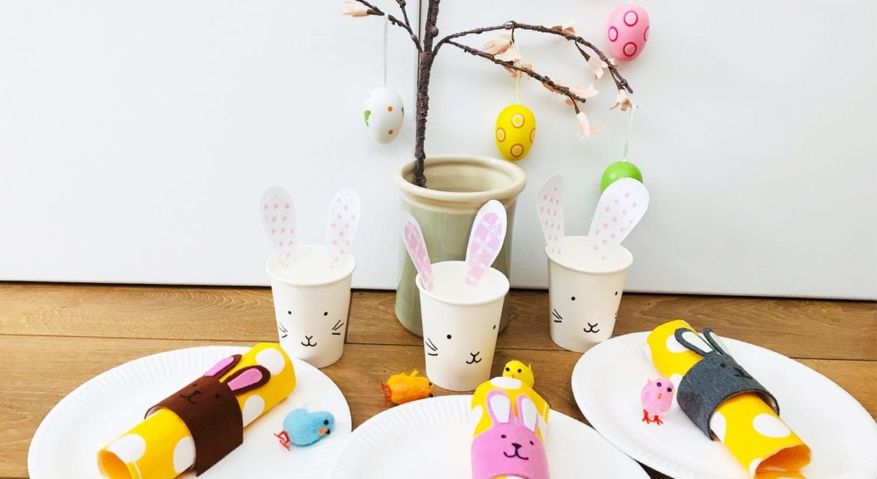 DIY Easter decorations. Make your own Easter table decorations with these fun Easter crafts for kids.