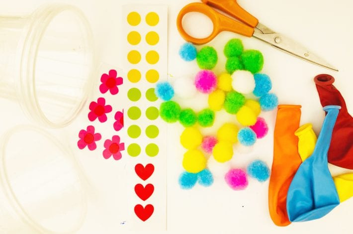 Marshmallow party poppers - Make your own diy party poppers as a great kids party activity