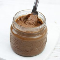 Nut free nutella alternative - try this homemade chocolate spread made with sunflower seeds over nuts
