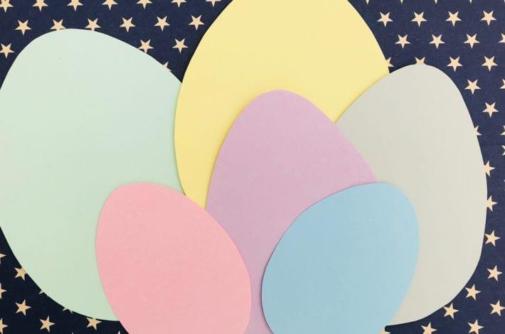 Paper plate Easter egg basket craft for kids