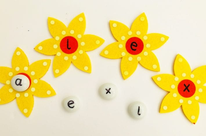 Alphabet pebbles - a fun early years learning game to help kids learn their first phonics and first letters