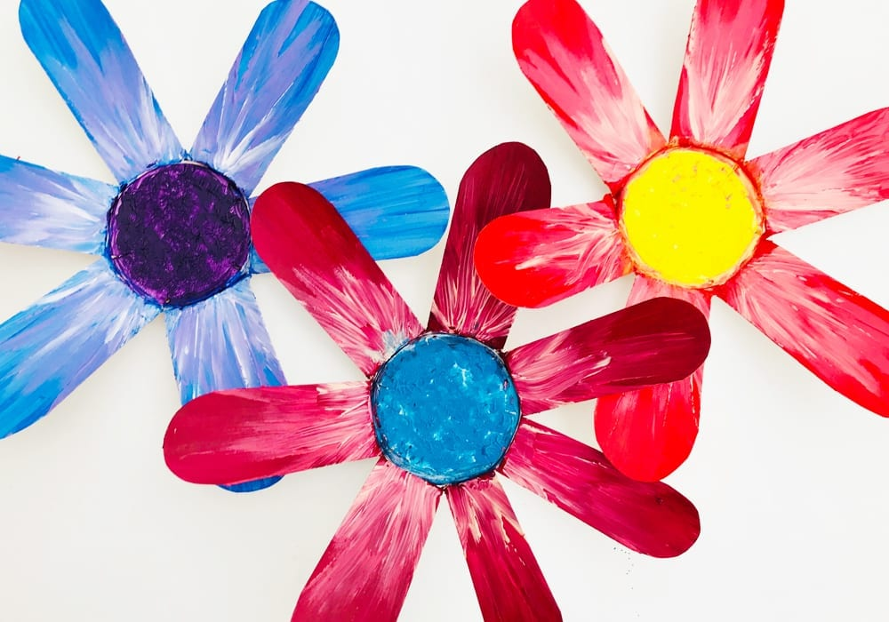 Bright Paper Cup Flowers Arts Crafts