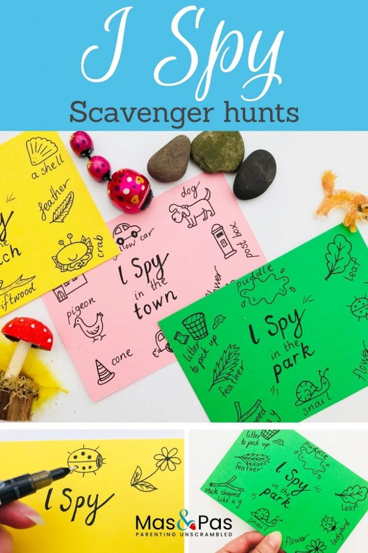 Nature scavenger hunt with FREE printables - play our I Spy game on your next nature walk with the kids