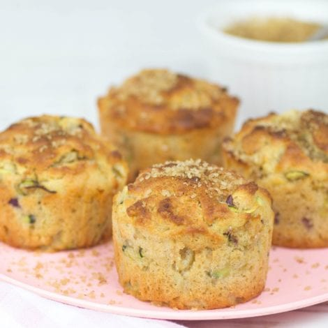 Apple zucchini muffins - enjoy these apple and courgette muffins as a healthy snack or after school treat. All the goodness with hidden veggies.