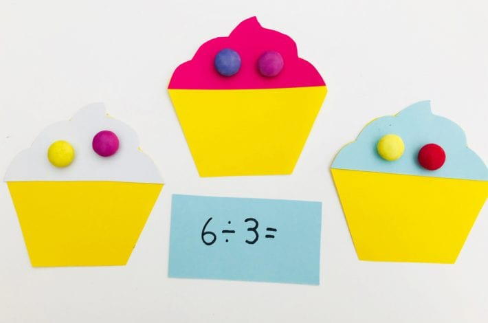 Have fun with times tables by playing this super fun (and yummy) cupcake game with your kids - a great game to teach those first times tables - learning fun for kids