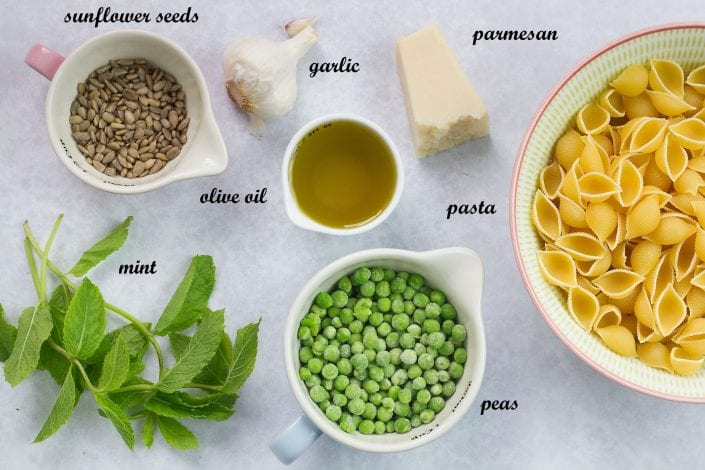 Pasta and pea pesto - a great baby pasta recipe that everyone can enjoy for family dinners - a tasty weaning recipe and kids meal