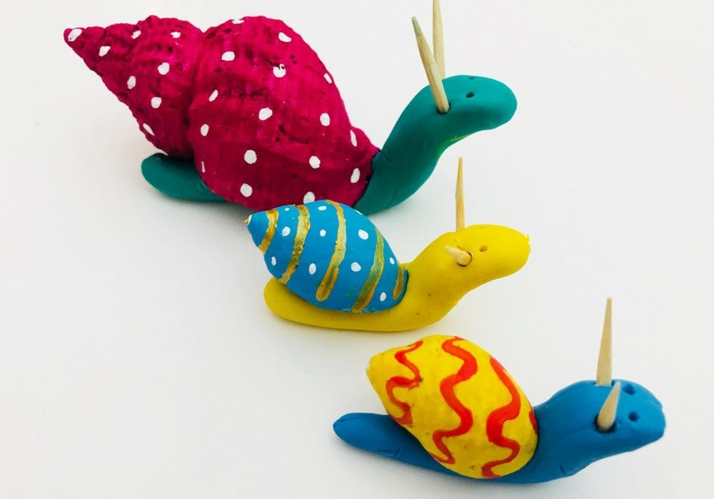 Easy Painted Seashell Snails Fun Kids Crafts Mas Pas