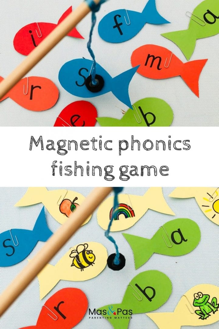 Have fun with phonics with this magnetic phonics fishing game - a great learning game for kids