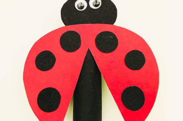 Ladybird finger puppet - enjoy making these animal finger puppets as a fun ladybird craft this summer