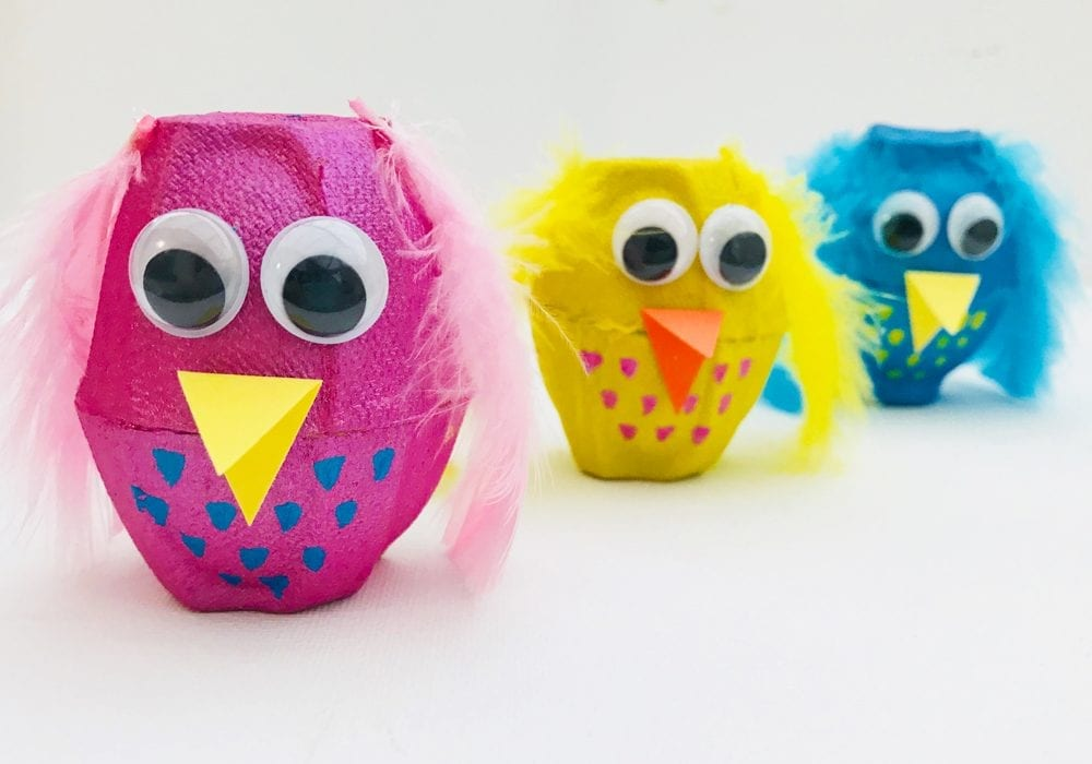 Easy peasy egg carton owls - a quick and easy kids animal craft
