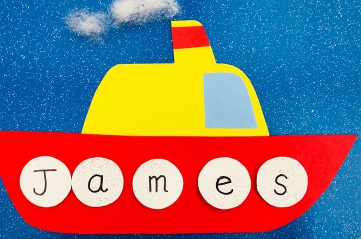 Ship Ahoy - Play this fun name game and help kids learn how to spell their first words, their name. A spell your name game for phonics fun.